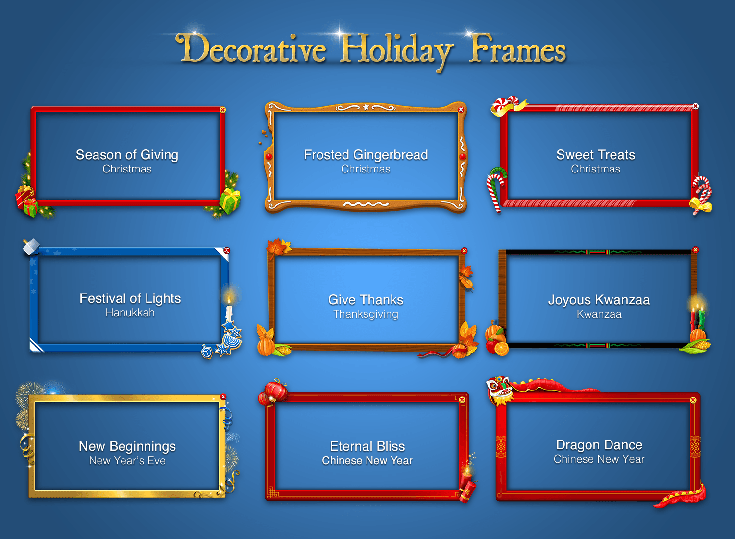 Decorate Your Interstitials With These Free Holiday Frames - Chartboost