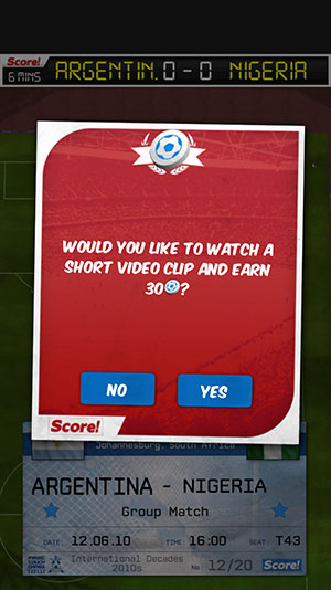 First Touch Soccer Rewarded Video
