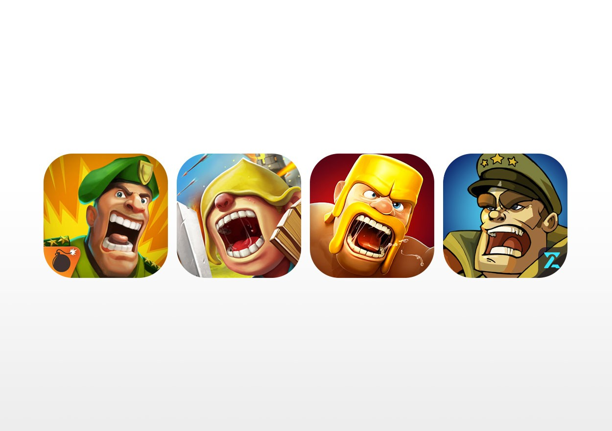 Mobile strategy game app store icons