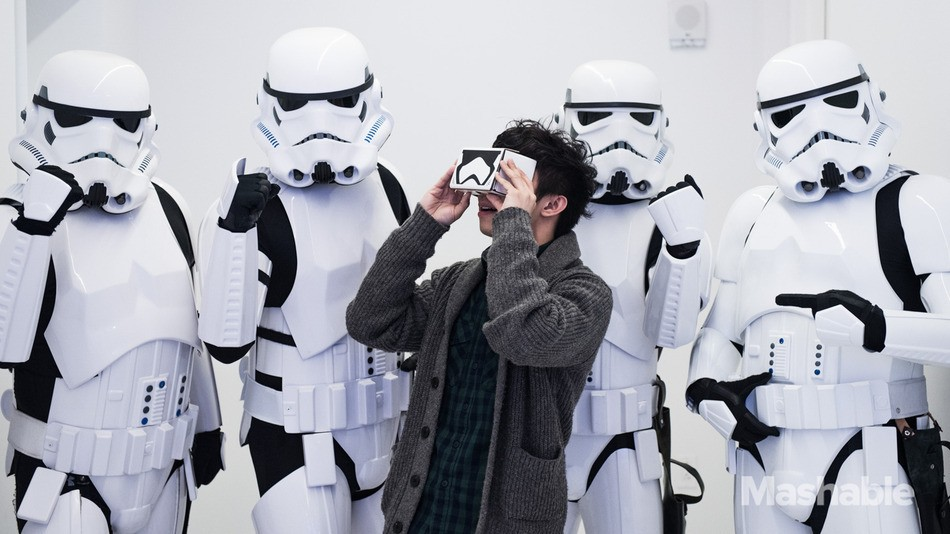 Star Wars Google Cardboard viewers. Image via Mashable.com