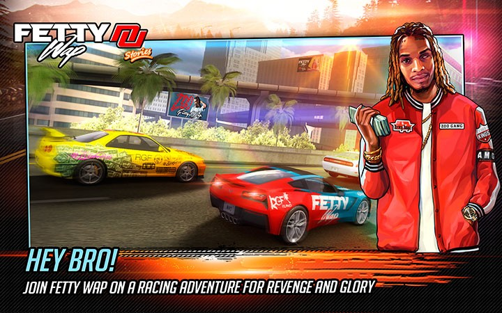 Creative Mobile Fetty Wap: Nitro Nation Stories game