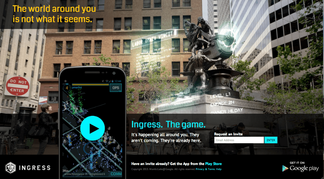 Niantic Ingress location-based mobile game