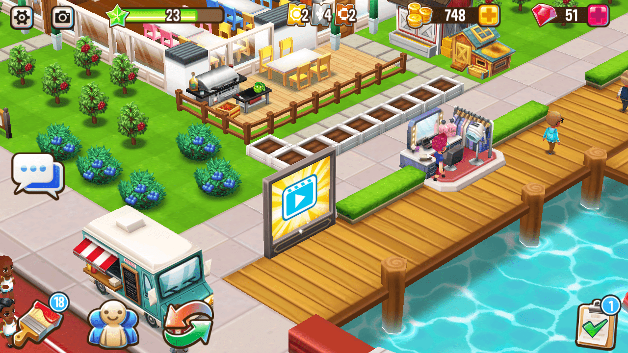 Supersolid Food Street mobile game rewarded ad placement
