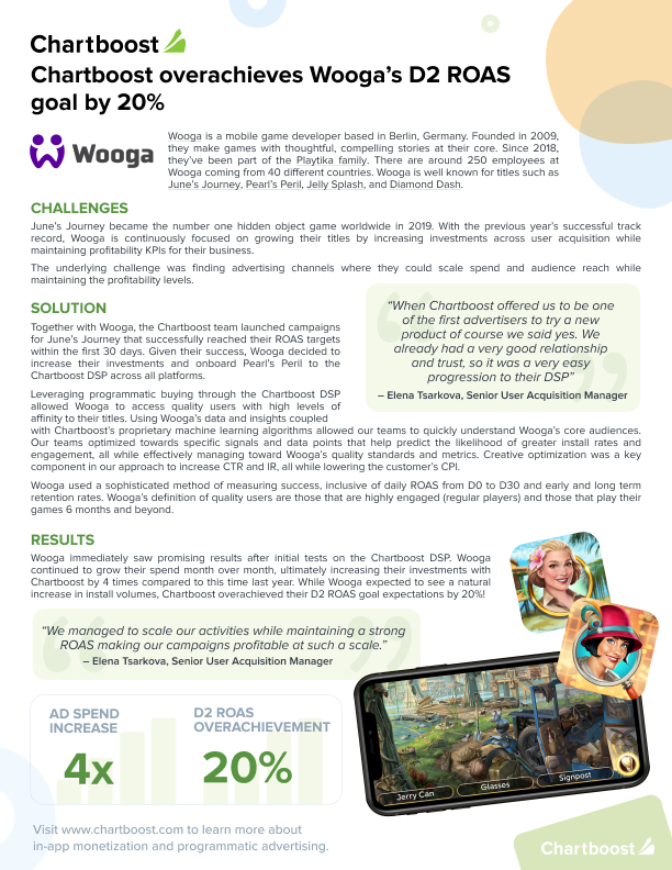Wooga case study front