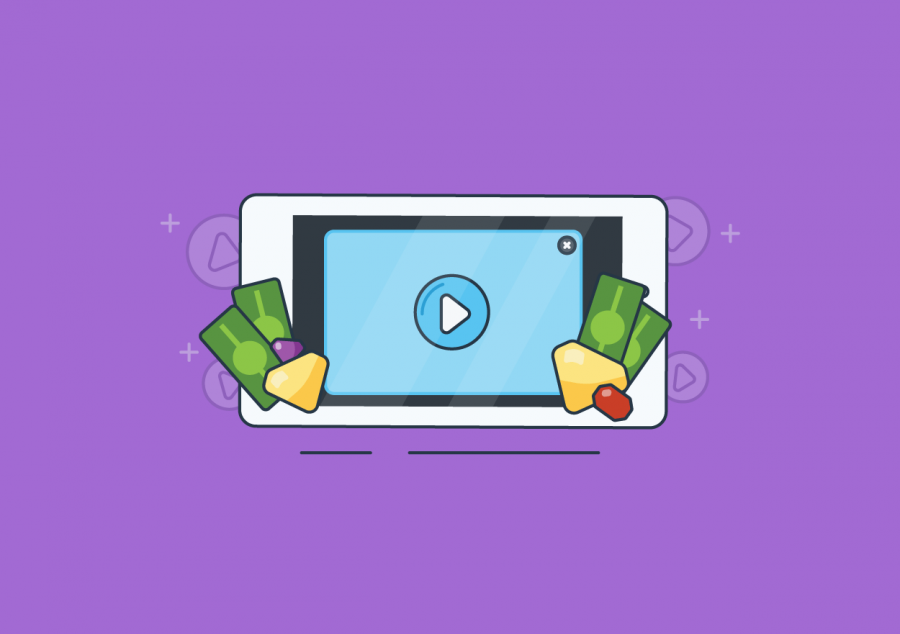 Mobile game rewarded video ad placement